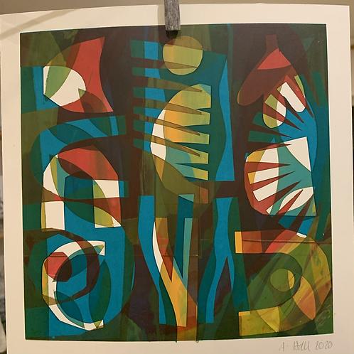 Silkscreen Mono Print 'Fragments 6'