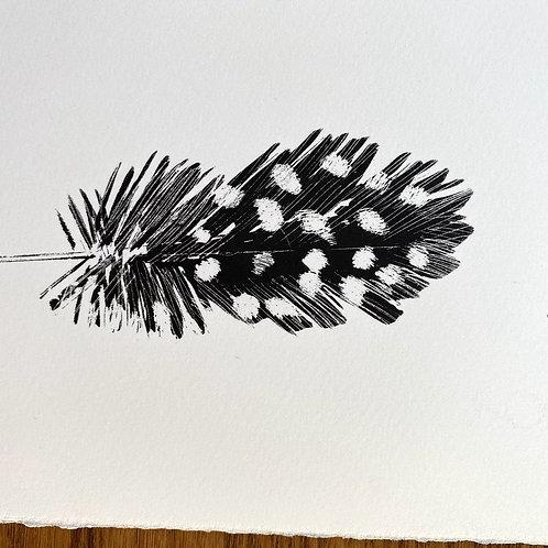 Three Spotty Feathers - Silkscreen Print