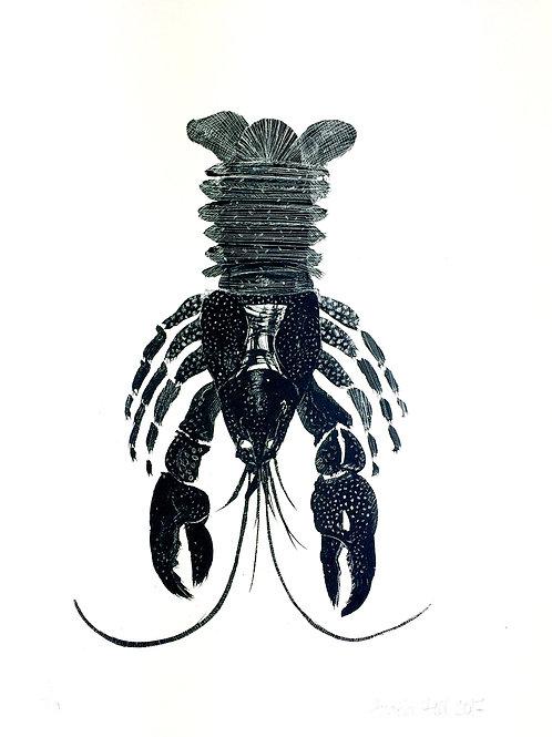 Silkscreen Print 'Black Lobster'