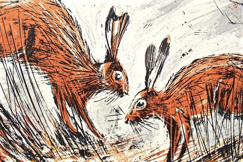 Silkscreen Print 'Hare Social'
