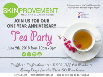 Skinprovement - One Year Celebration