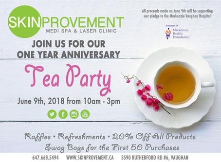 Skinprovement - One Year Celebration