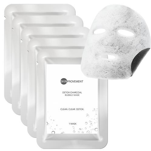 Detox Charcoal Bubble Mask - 5 pack