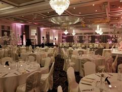 Upwall Lighting. Wedding Reception
