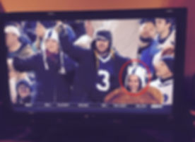 Nicole Cowley at a Penn State Game on ESPN