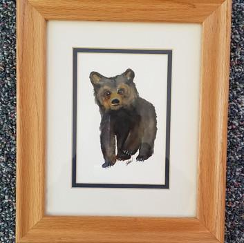 Baby bear original watercolor painting