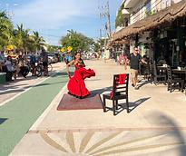 Downtown Tulum dancer