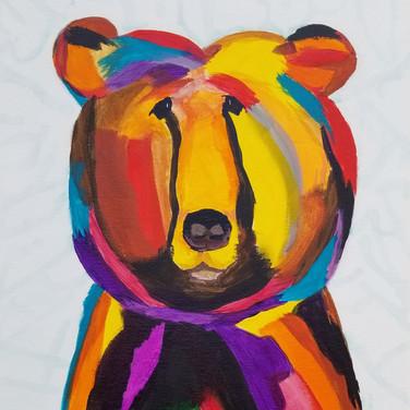 Whimsical bear painting