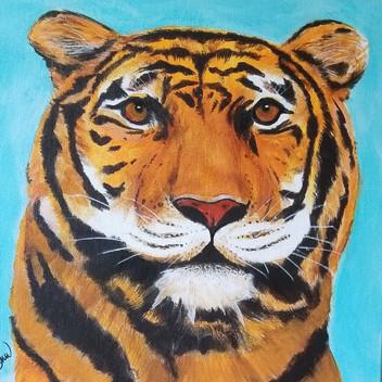 Tiger original acrylic painting