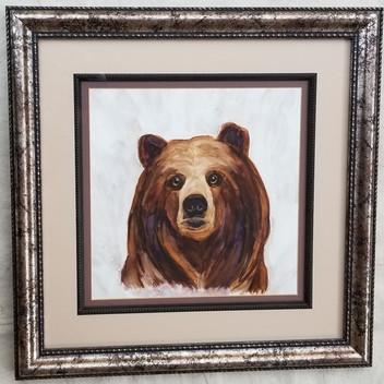 Papa Bear original watercolor painting