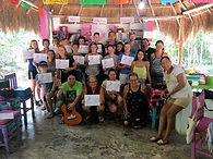 Groups learn Spanish at Meztli in Tulum