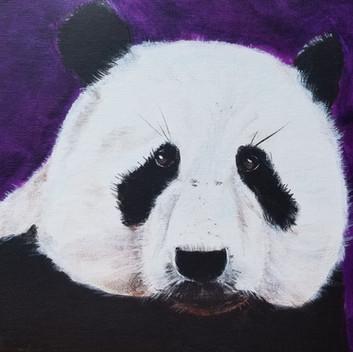 Panda bear original acrylic painting