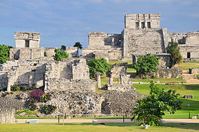 Tulum, the site of a pre-Columbian Mayan