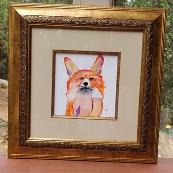 Fox original watercolor painting
