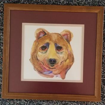 Bear original watercolor painting
