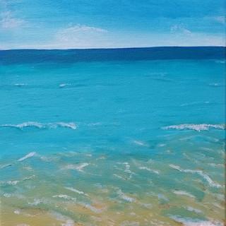 The Caribbean Sea original acrylic painting