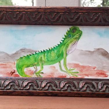 Watercolor Lizard