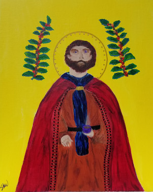 St. Drogo, the patron saint of coffee and ugly people.