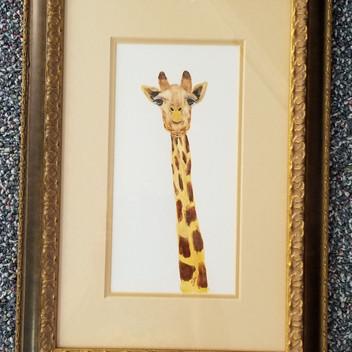 Giraffe original watercolor painting
