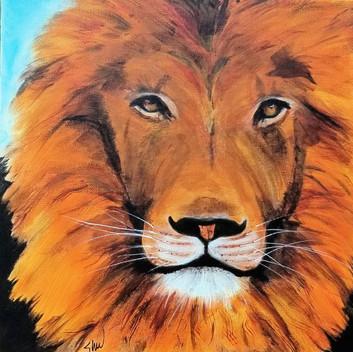 Lion original acrylic painting