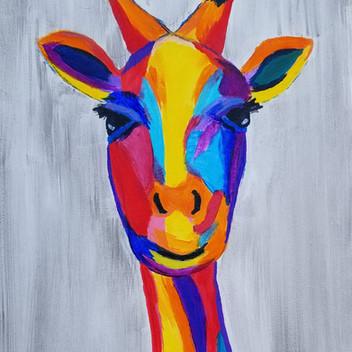 Giraffe original acrylic painting