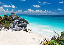 The Tulum ruins and beach