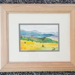 Hills original watercolor painting