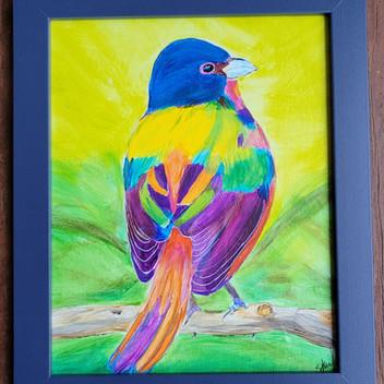 European Beeeater bird orignal watercolor painting