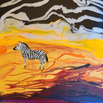 Pour Painting with Zebra