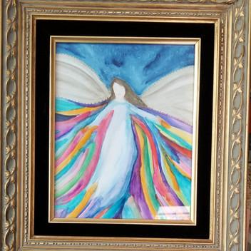 Angel original watercolor painting