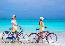 Bikes on the beach in Tulum