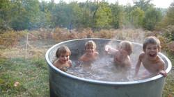 bain chaud garçon
