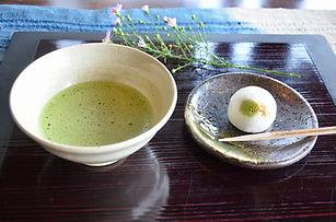 和菓子と抹茶・コーヒー等のセット