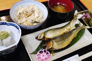 天然鮎定食