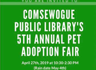 Comseqogue Public Library 5th Annual Pet Adoption Fair