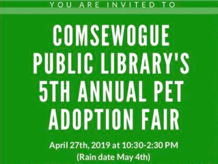 Comseqogue Public Library 5th Annual Pet Adoption Fair