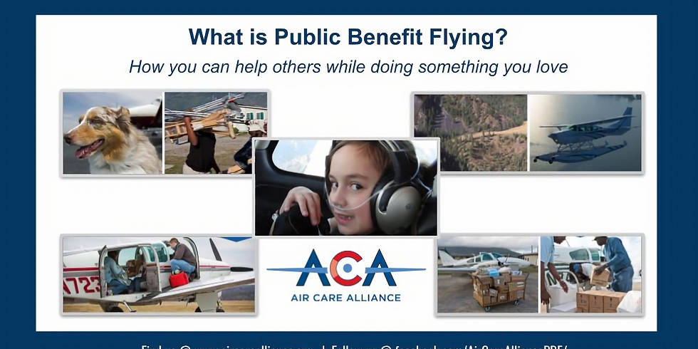 Giving Back Through Aviation - What is Public Benefit Flying?