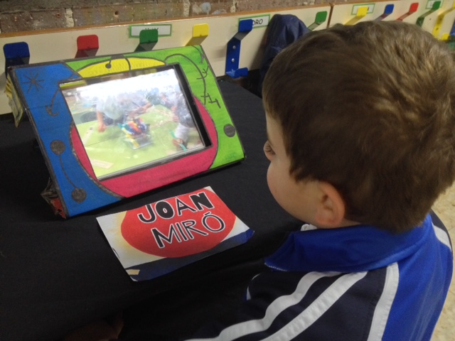 Exposición de trabajos en el iPad