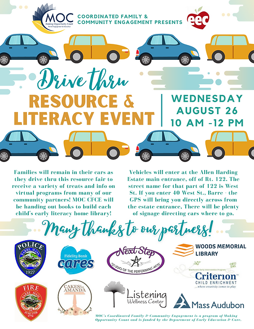 CFCE Drive Thru Resource & Literacy Even