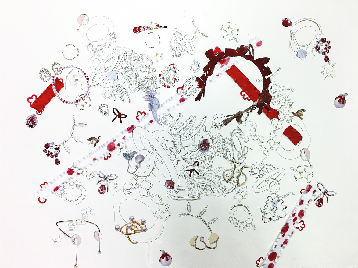 Micro & Macro LINE & TONE Drawing/Collage - Leyi Peng