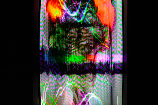 Still from Viewing Screen for Call & Response (Etheric Laser Feedback Looping System)