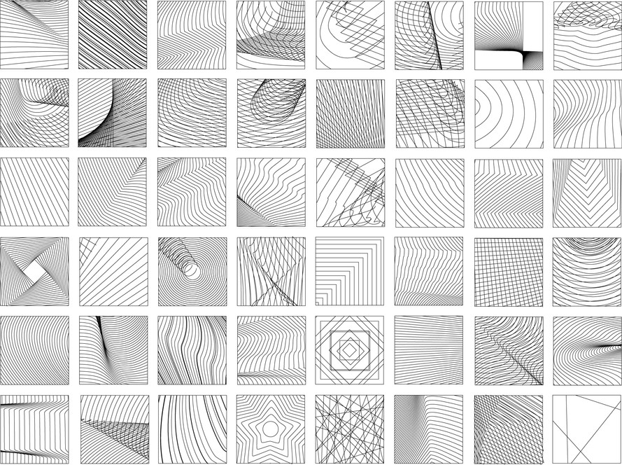 Visual Catalog: Cross-Hatching Drawings - Bobby Hall