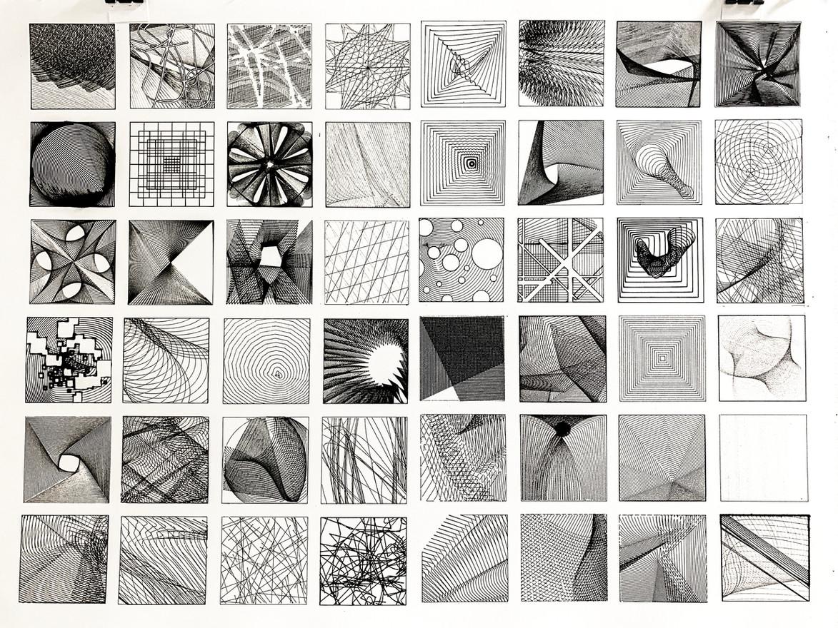 Visual Catalog: Cross-Hatching Drawings - Julianna Dougherty