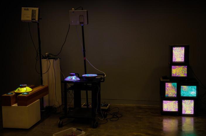 Installation View (Light): Energetic Vessels: Flow-Through Transformation