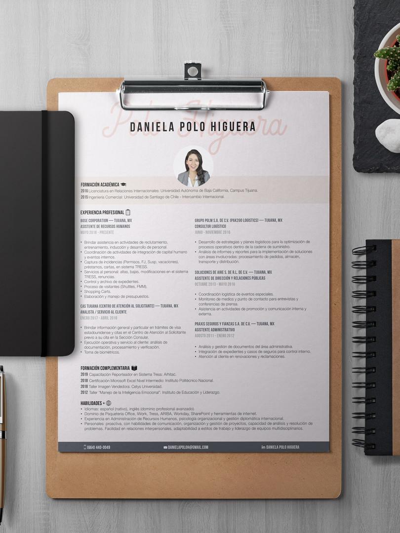 CV español