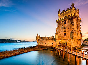 Lisbon, Portugal at Belem Tower on the T