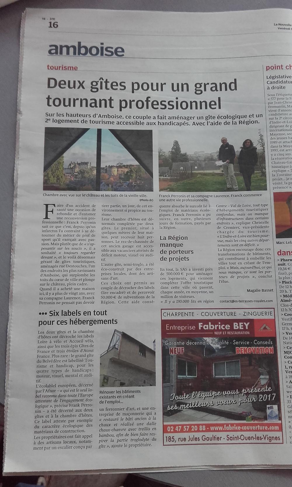 Un bel article réalisé par la journaliste locale...