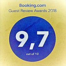 Note Booking Award pour le gîte à Ambois
