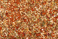 mix-herbs-spices-dry-tomatoes-background