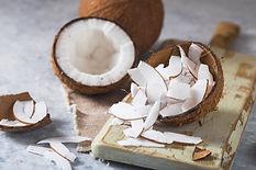 cracked-fresh-coconut-slice-nut-concrete